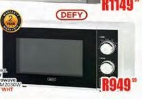 Defy microwave oven  offer at R 949,99