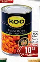 KOO Baked Beans in Tomato Sauce  offer at R 10,41