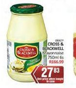 Crosse & Blackwell Mayonnaise  offer at R 27,83