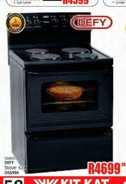 Defy stove offer at R 4699,99