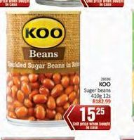 KOO Baked Beans in Tomato Sauce  offer at R 15,25