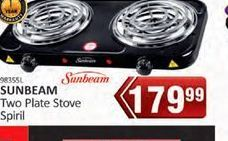 Sunbeam Two Plate Stove  offer at R 179,99