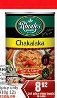 Rhodes Chakalaka  offer at R 8,92