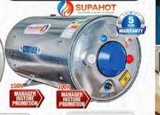 Supahot water tank offer at