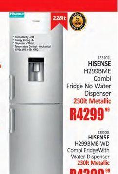Hisense Fridge / Freezer offer at R 4299,99
