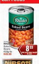 Rhodes Baked Beans in Tomato Sauce  offer at R 8,33