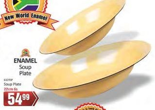 Enamele Soup Plate offer at R 54,99