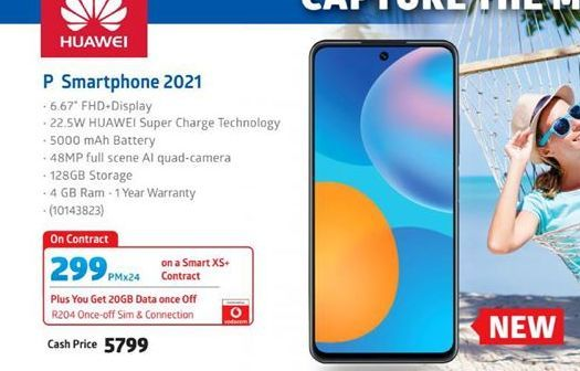 Huawei P Smartphone 2021 offer at R 5799