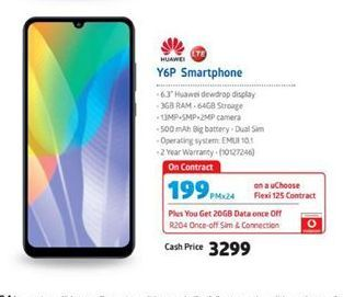 Huawei Y6p Smartphone  offer at R 3299