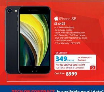 Apple iPhone SE  offer at R 8999