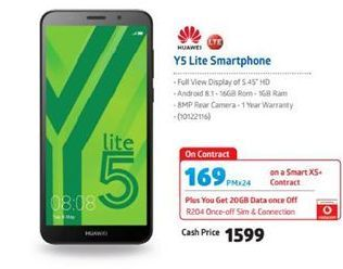 Huawei Y5 Lite Smartphone  offer at R 1599