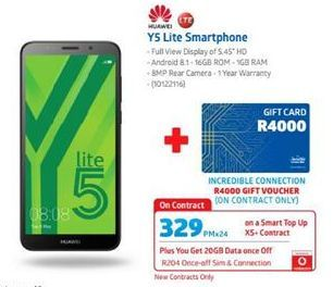 Huawei Y5 Lite Smartphone  offer at R 329