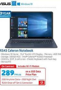 Asus Laptop offer at R 289