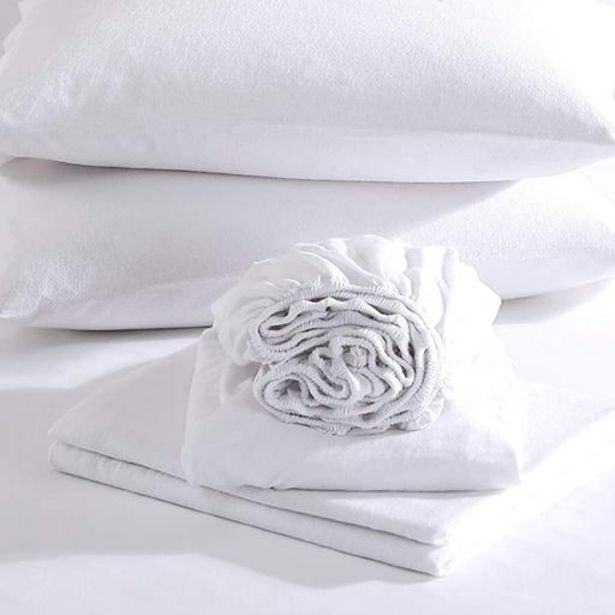 100% Brushed Cotton White Winter Fitted Sheets offers at R 167,2