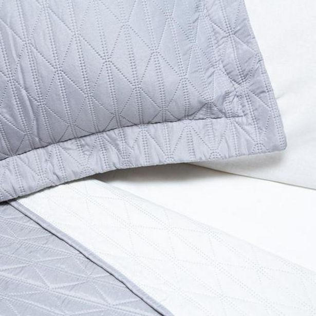 Microfibre Diamond Design Reversible Quilts - Grey / White offers at R 449
