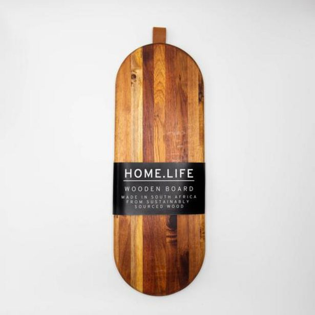 HOME.LIFE Round Wooden Platter (50x18xcm) offers at R 299