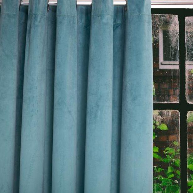HOME.LIFE Protea Velvet Lined Eyelet Curtain - Duck Egg offer at R 849