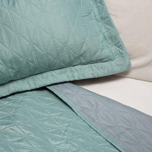 Microfibre Diamond Design Reversible Quilts - Duck Egg / Grey offers at R 449