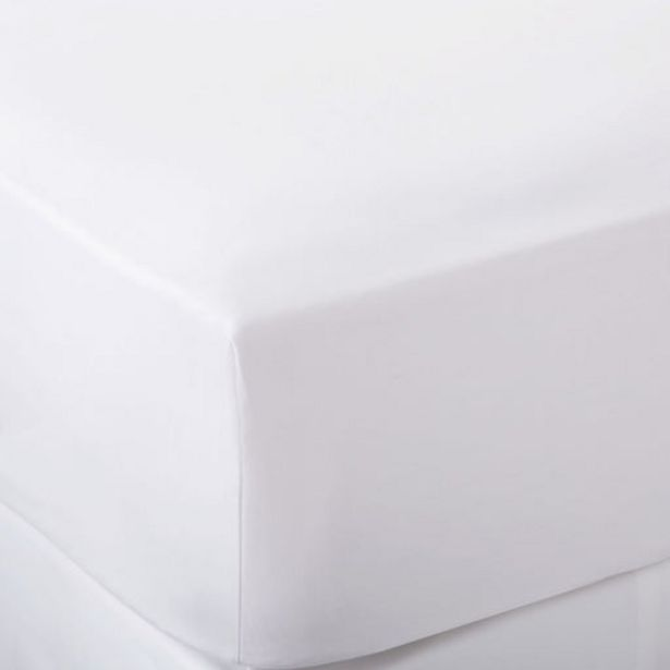 300 Thread Count Egyptian Cotton Percale White Fitted Sheet offers at R 296,65