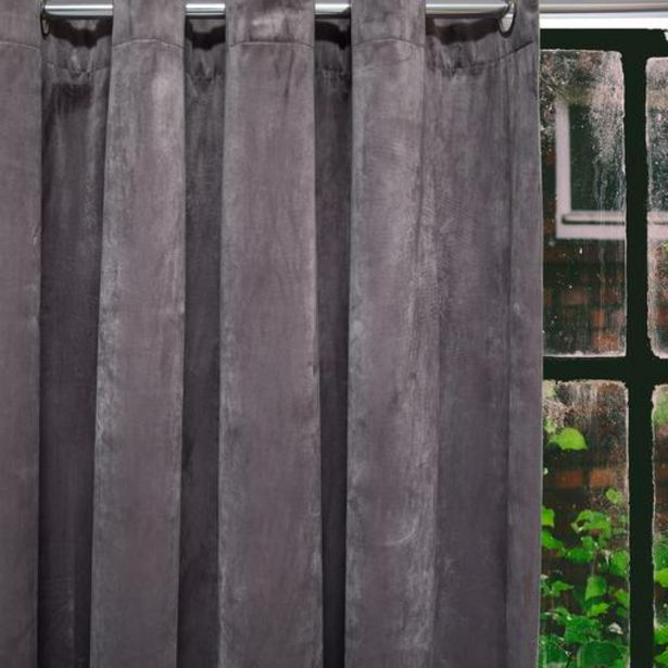 HOME.LIFE Protea Velvet Lined Eyelet Curtain - Grey offer at R 849