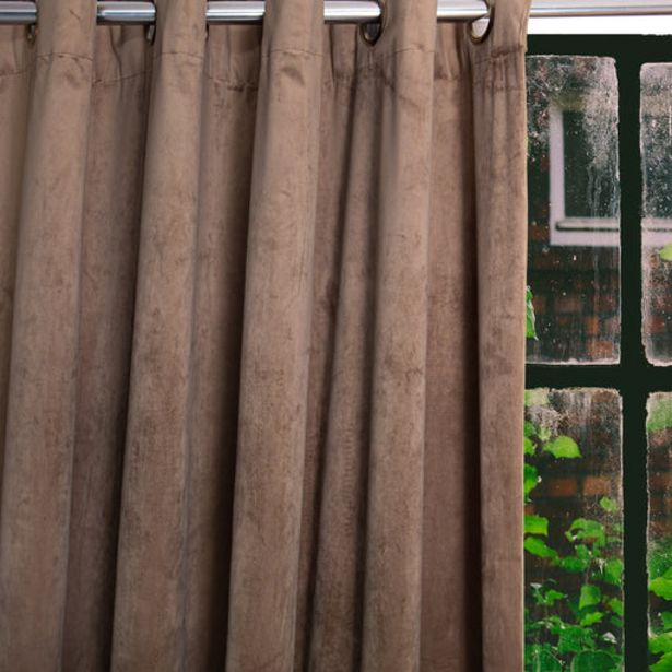 HOME.LIFE Protea Velvet Lined Eyelet Curtain - Stone offer at R 849