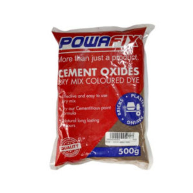 CEMENT OXIDE BROWN 500GR offers at R 21,95