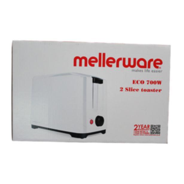 MELLERWARE TOASTER 2 SLICE ECO 700W WHITE offer at R 275