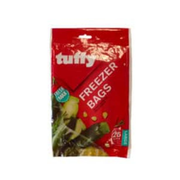 TUFFY FREEZER BAGS LARGE (25) offers at R 25,95