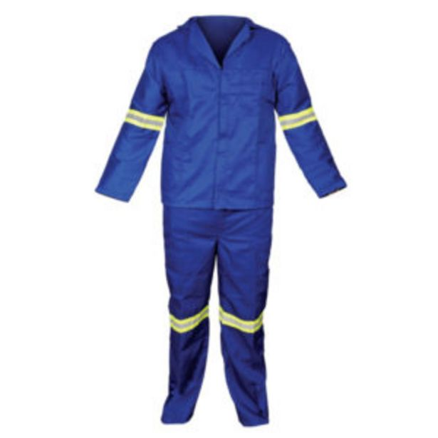 2PC REFLECTIVE ROYAL BLUE OVERALL offers at R 199,95