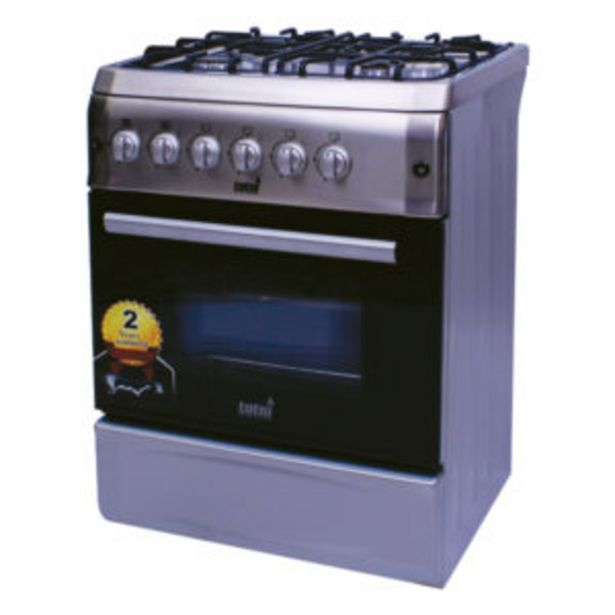 GAS STOVE 4BURNER+ELEC OVEN S/STEEL offers at R 5999