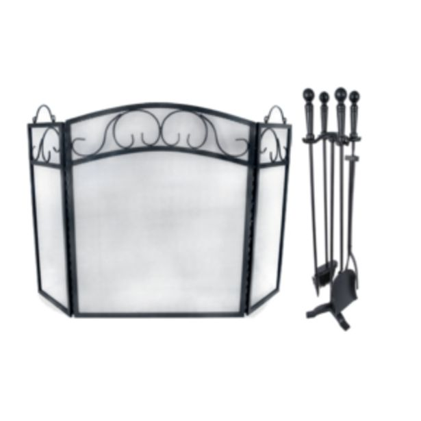 Mega Tuscan Fire Screen & Deluxe Toolset offer at R 899,95