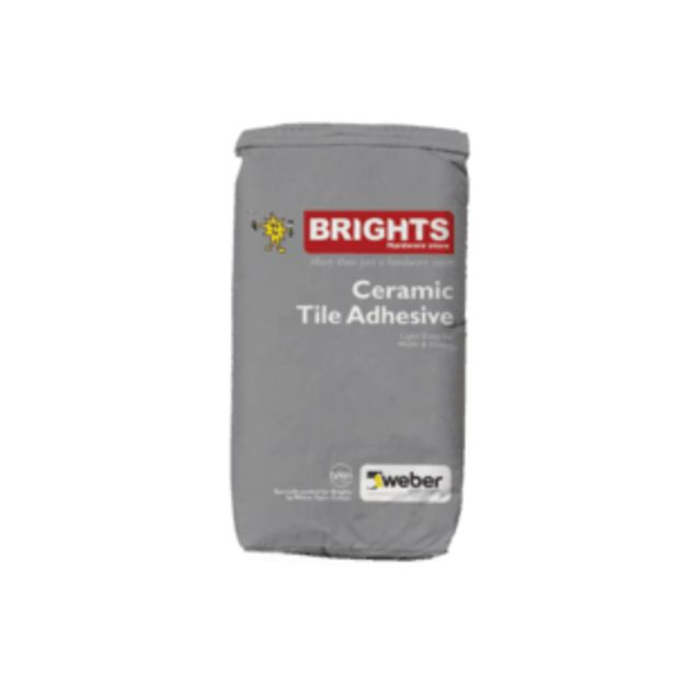 BRIGHTS WALL & FLOOR TILE ADHESIVE 20KG offers at R 43,95
