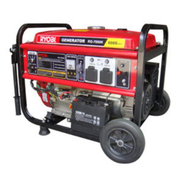 Ryobi Generator 6500W 4-Stroke Key-Start offers at R 10999