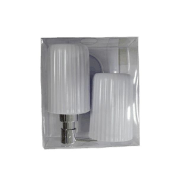 CASTAWAY 3PC BATHROOM SET WHITE offers at R 99,95