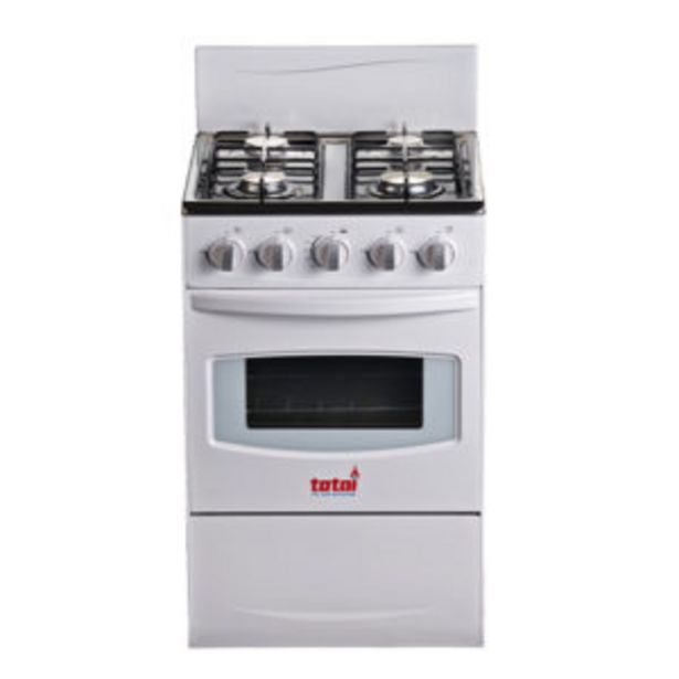Totai Gas Stove 4 Burner White offer at R 2999