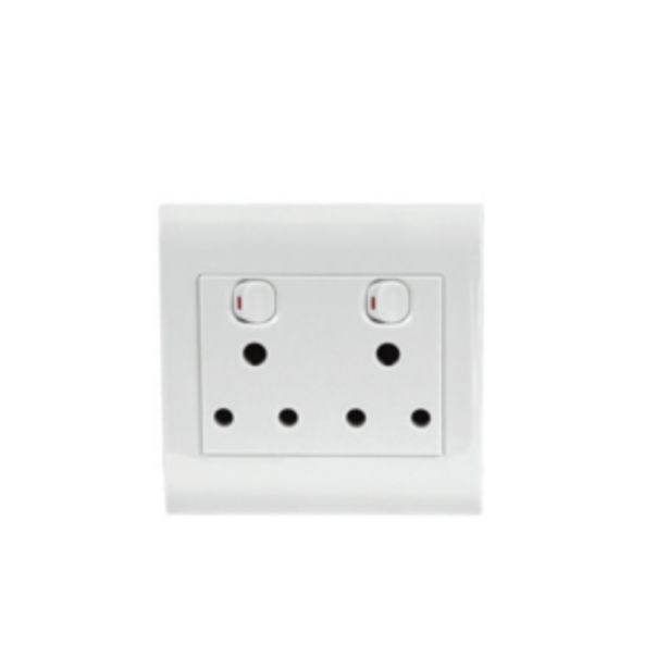 Ausma Double 16A 3-pin Socket Outlet offer at R 39