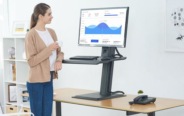 Sit-Stand Desktop Workstation for 1, 2 or 3 Monitors offer at R 2499