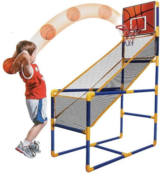 Family Arcade Basketball Hoop with Ball and Air Pump offer at R 599
