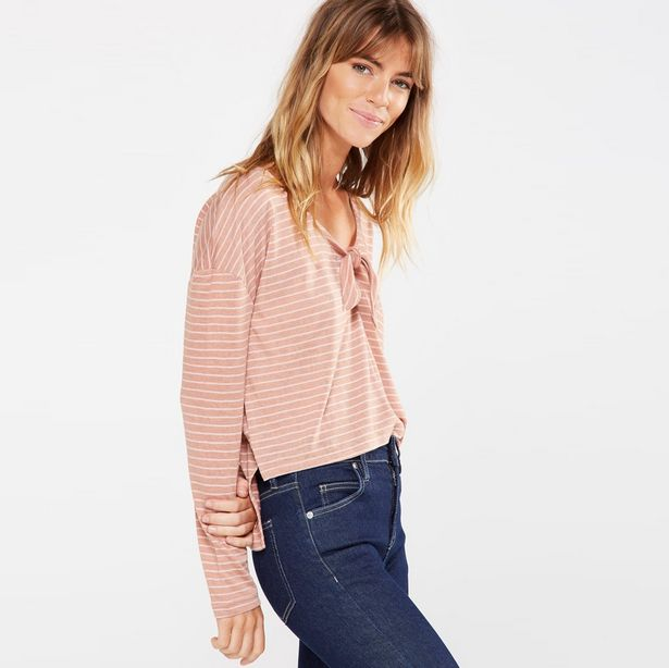 Lisa Knot Front Long Sleeve Top offers at R 99