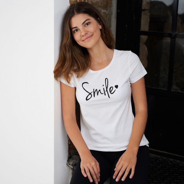 Ladies Slogan Cotton T-shirt offers at R 199