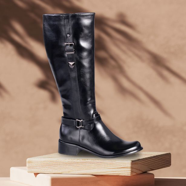 Ladies Leather Knee High Buckle Boots offers at R 699