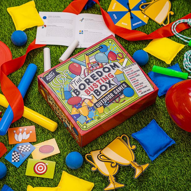 The Outdoor Boredom Busting Box - Over 45 Activities from Treasure Hunt to Limbo offers at R 449