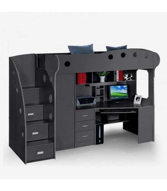 Moon Study Bunk Bed - Charcoal offers at R 9500