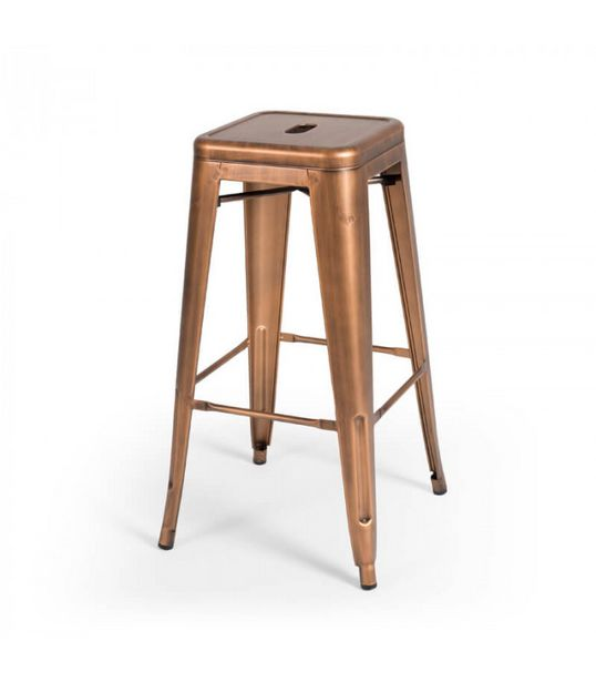 Malcolm Copper Metal Stool - Copper offers at R 750