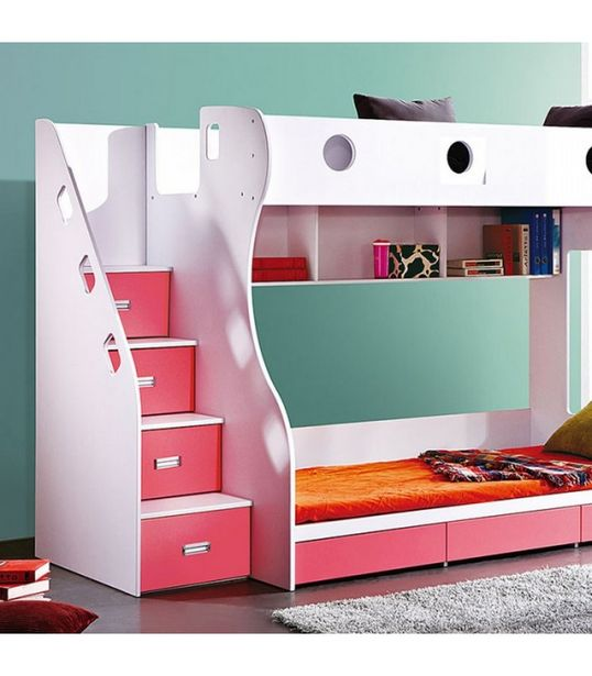 Storage Bunk Bed - Pink offers at R 9500
