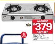 Alva 2-Burner Gas Stove offer at R 379