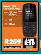 Nokia 105 Phone offer at R 259