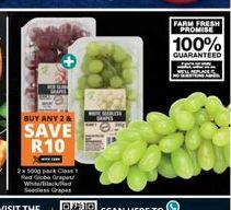 Grapes offer at