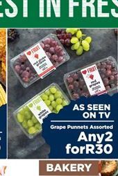 Grapes 2 offer at R 30