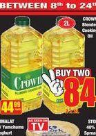 Crown Blended Cooking Oil 2 offer at R 84